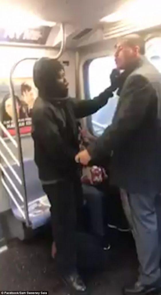 manspreading at nyc subway
