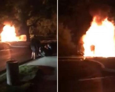 teens save couple burning car