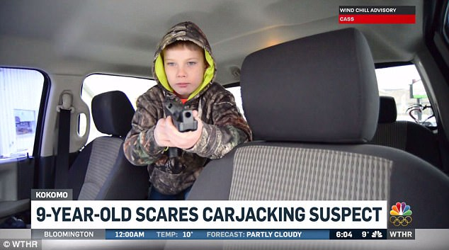 boy scares carjackers
