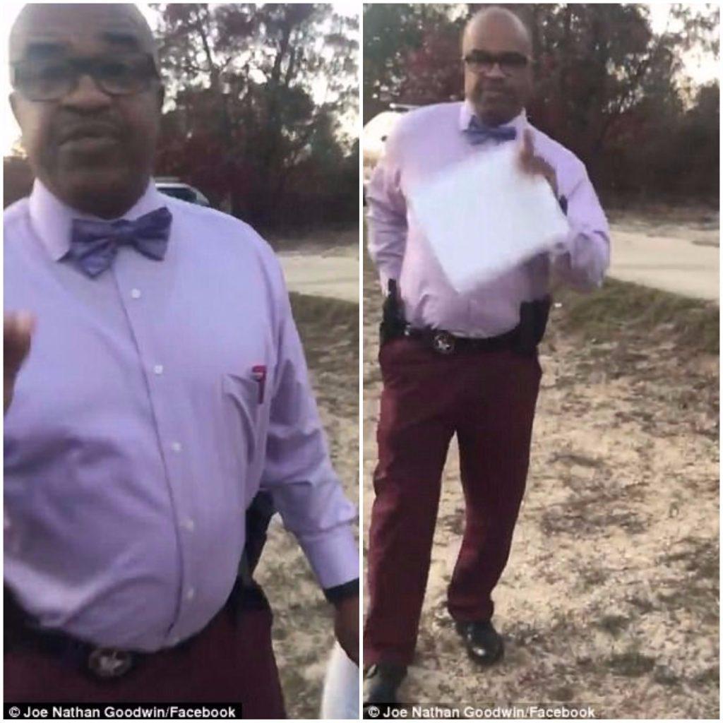 officer orders cut dog head