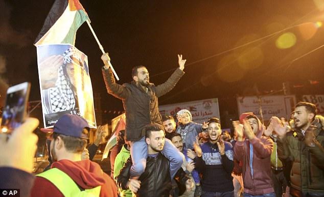 palestinian anti-trump protest