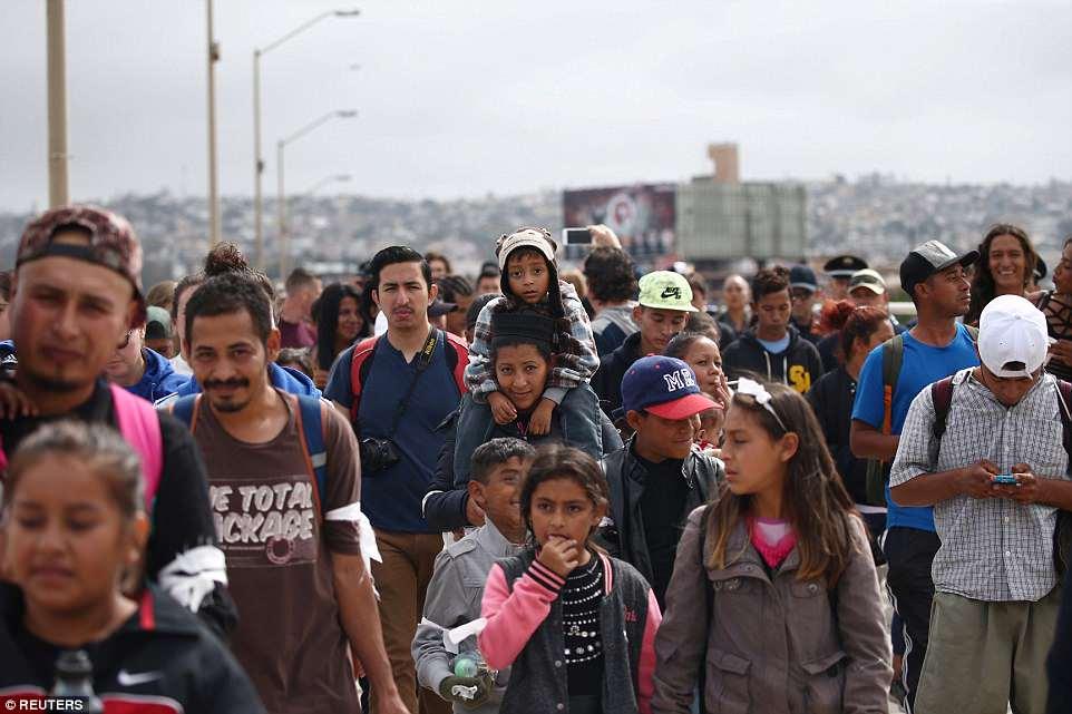 Immigrant caravan Mexico border