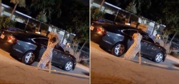 cheating boyfriend's car on fire footage