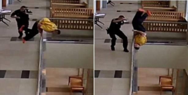 Rudd fleeing courtroom footage