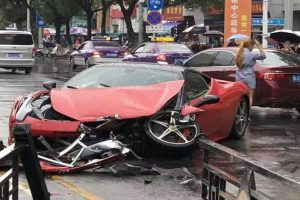 ferrari bmw car crash